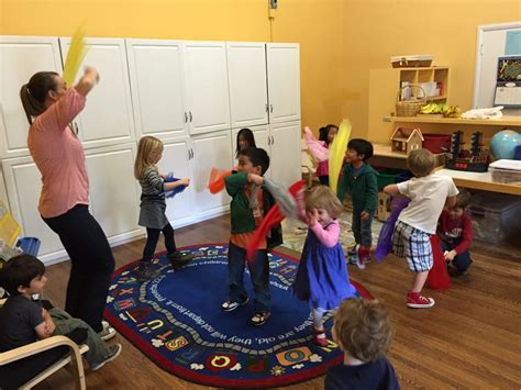 If you pretend like the song is over when the music slows…kids scream with delight when the music starts up again. Music and Movement with Miss Ledah at circle time. - Yelp