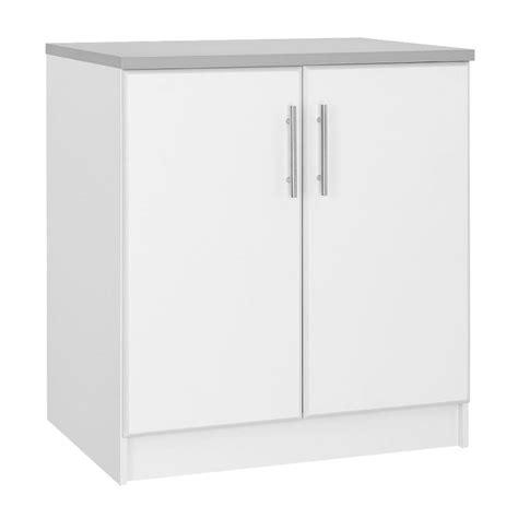 hton bay 36 in h 2 door base cabinet in white thd90068