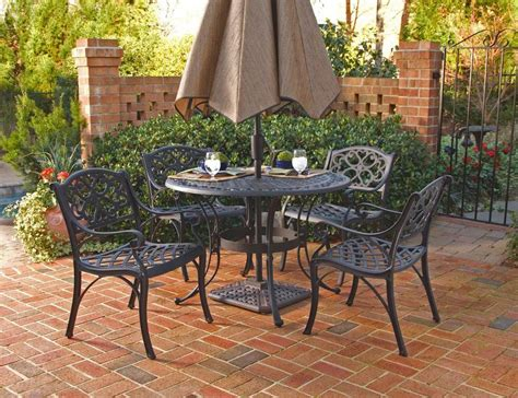 home styles biscayne 5pc 48 quot outdoor patio dining set w