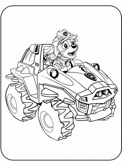 Dino Rescue Patrol Paw Coloring Kleurplaat Malvorlage