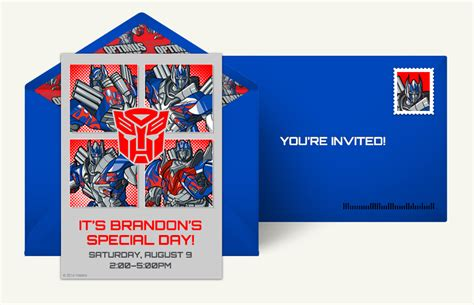 Transformer Website Templates by Transformers Birthday Party Invitations Template Images