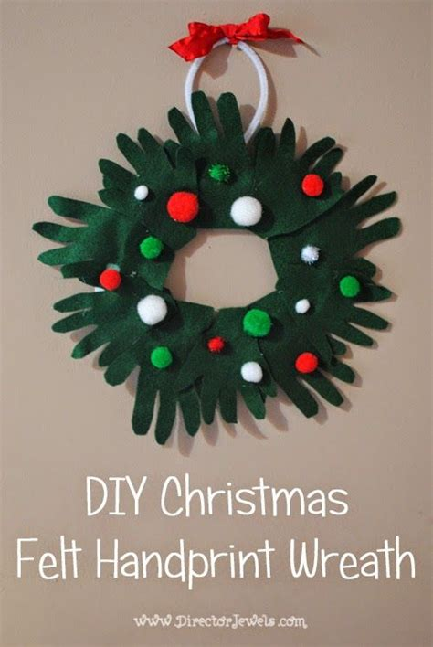 director jewels diy kids christmas craft felt handprint