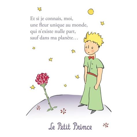 le petit prince au bureau post card the prince une fleur unique au monde 2
