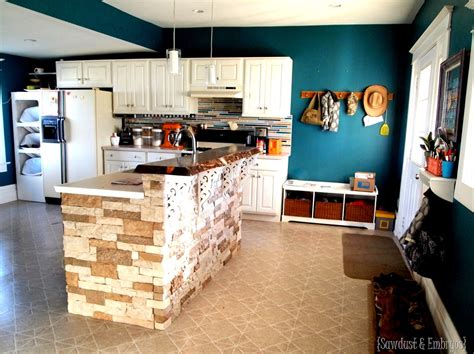 Stone Backsplash Ideas For Kitchen - breakfast bar counter live edge lacquer sawdust and embryos