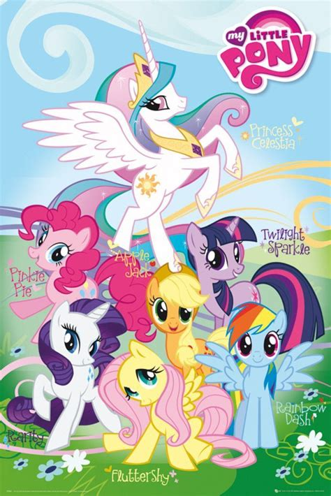 pony names characters poster ponies character magic friendship sparkle twilight anime