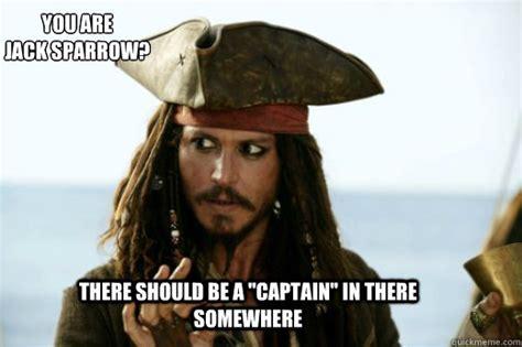 Captain Jack Sparrow Memes - jack sparrow captain memes quickmeme