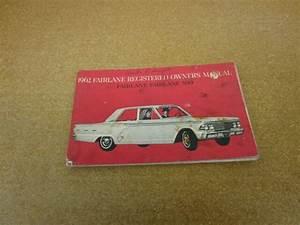 Original 1962 62 Ford Fairlane 500 Owners Manual Guide