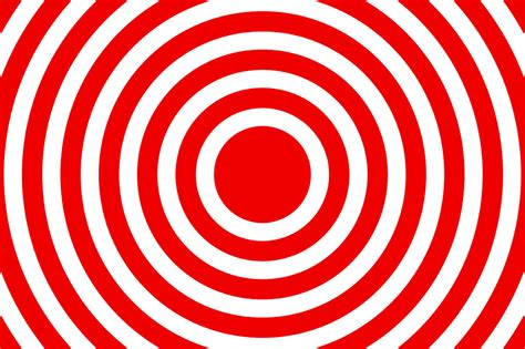 Design  Free Stock Photo  A Red And White Bullseye