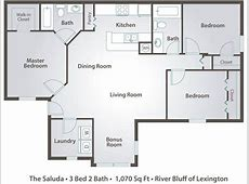 Apartment Floor Plans & Pricing – River Bluff of Lexington