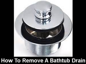 how to remove a push pull pop up bathtub drain assembly