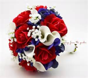 silk calla lilies white blue bridal bouquet roses hydrangea calla