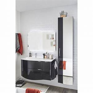 meuble de salle de bains elegance noir 100 cm leroy merlin With leroy merlin meuble salle de bains