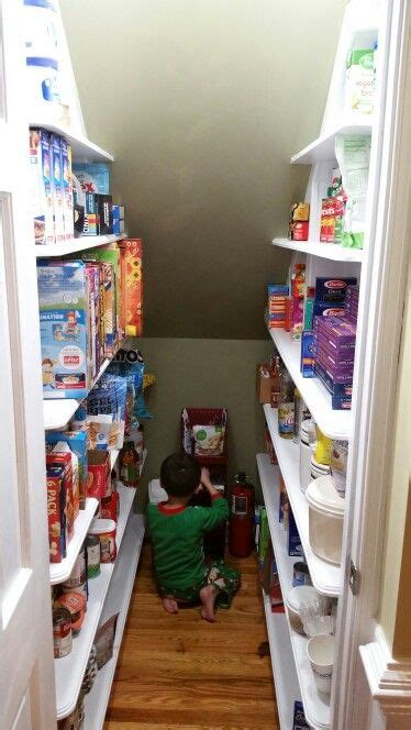 I planned on three 10 deep shelves for the using a level and a straight edge, we marked where the shelves would go, and carefully screwed the shelf. Under stairs pantry | Under stairs pantry, Space under stairs, Understairs storage