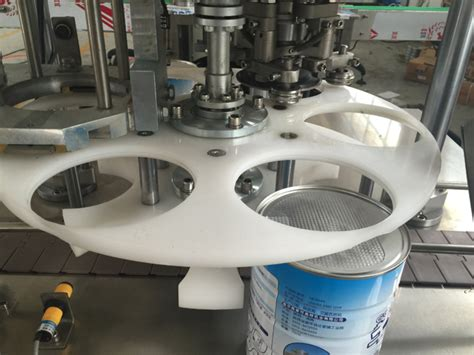 metal cans canning machine automatic rotary jars pop  capping sealing equipment  touch