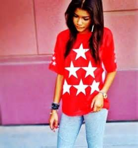 t shirt top swag fashion colorful zendaya wheretoget