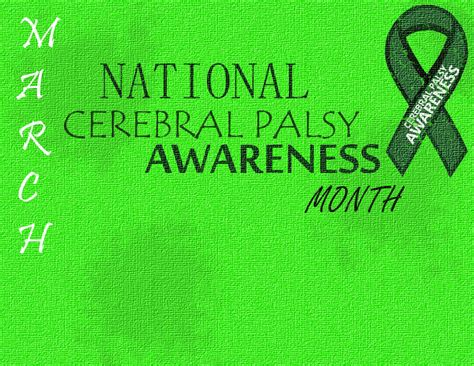 Cerebral Palsy Awareness Month  Riverfront Grumble