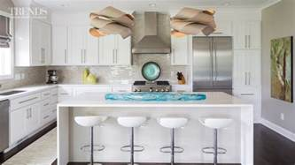 a white kitchen doesn t have to be boring just add splashes of color and designer light
