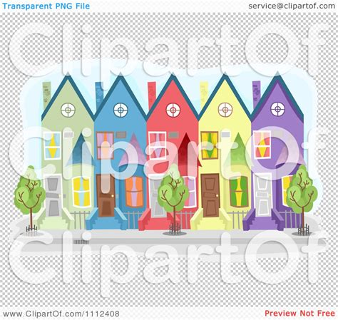 free royalty free clipart clipart colorful townhouse buildings royalty free vector