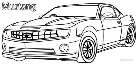 printable mustang coloring pages  kids