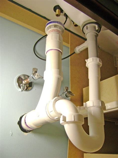 bathroom sink drain plumbing air vent p trap  pop