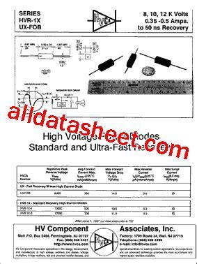 HVR-1X-3 Datasheet(PDF) - List of Unclassifed Manufacturers