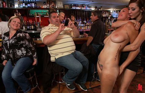 Stripped Naked In The Bar For Pictures And Fun Nudeshots