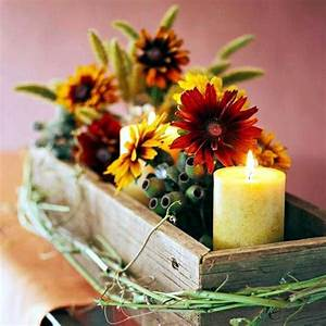 Rustic Autumn Table Decoration Wooden Box With Fruit And