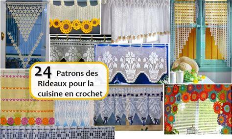 les plus belles cuisine 24 patrons des rideaux pour la cuisine en crochet