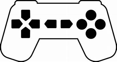Controller Clipart Outline Playstation Silhouette Transparent Icons