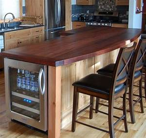 Reclaimed Hickory Island with Wood Top - Kitchen - new