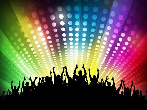 club disco powerpoint ppt backgrounds beige black blue brown green grey tv