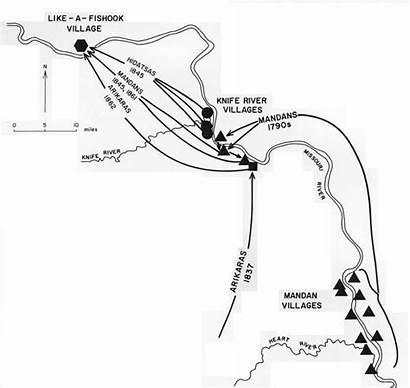 Cultural Hidatsa Map Landscapes Indian Tribes Nps