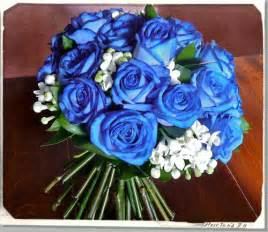 Blue Roses Wedding Bouquet Flowers