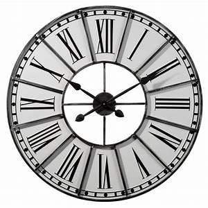 Horloge 80 Cm : horloge grise d 80 cm cambronne maisons du monde ~ Teatrodelosmanantiales.com Idées de Décoration