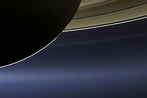 Rare Photograph Itty Bitty Earth Seen From Saturn