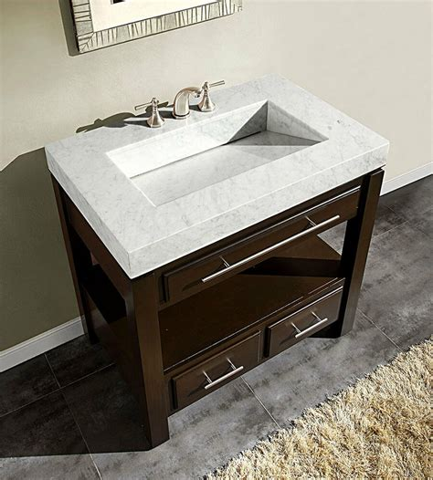 Marble Top Bathroom Cabinet by 36 Quot Walnut Marble Sink Top Cabinet Bathroom