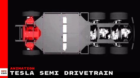 tesla semi truck drivetrain animation youtube