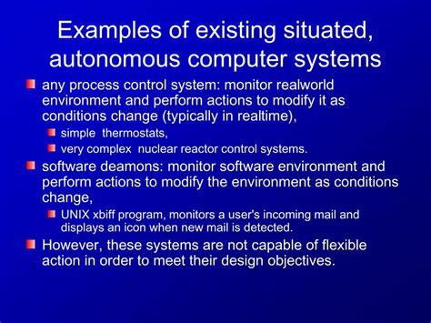 definition agent autonomous computer system examples presentation ppt powerpoint systems