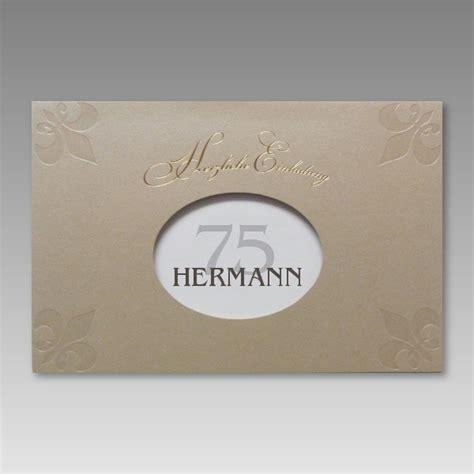 einladung zum 75 geburtstag basteln attraktive einladung zum 75 geburtstag mit g 252 nstigen preis