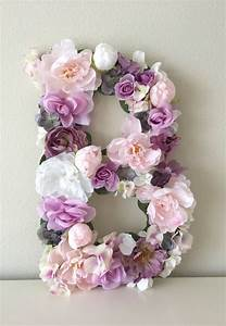 25 best ideas about flower letters on pinterest nursery With flower covered letters