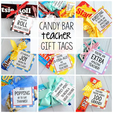 Teacher Appreciation Gift Idea-Candy Bars - Crazy Little