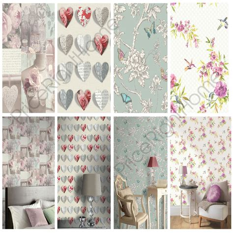shabby chic wallpaper sles shabby chic floral wallpaper in various designs wall decor new free p p ebay