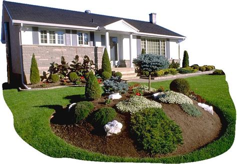 landscape front yard design garden island for front yard i also like the small border shrubs lining the house