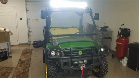 john deere gator light bar new led lightbar on my gator john deere gator forums