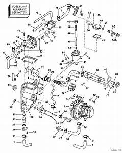 Evinrude Fuel Bracket  U0026 Components Parts For 1996 150hp