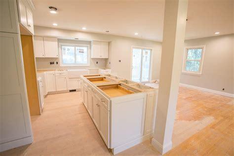 how to level kitchen floor kitchen remodel takes a split level to the next level 7275