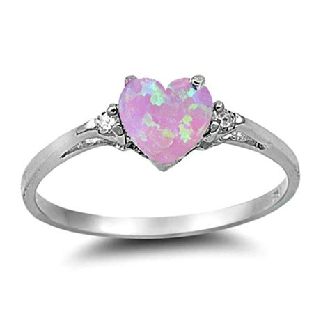 letter sterling silver ring 925 sterling silver pink opal and ring