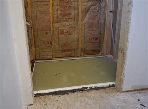 tile ready shower pan installation sawdust 174
