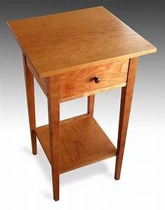 Three Shaker end tables with shelf, cherry - FineWoodworking
