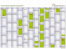 Ferien BadenWürttemberg 2017 Ferienkalender zum Ausdrucken